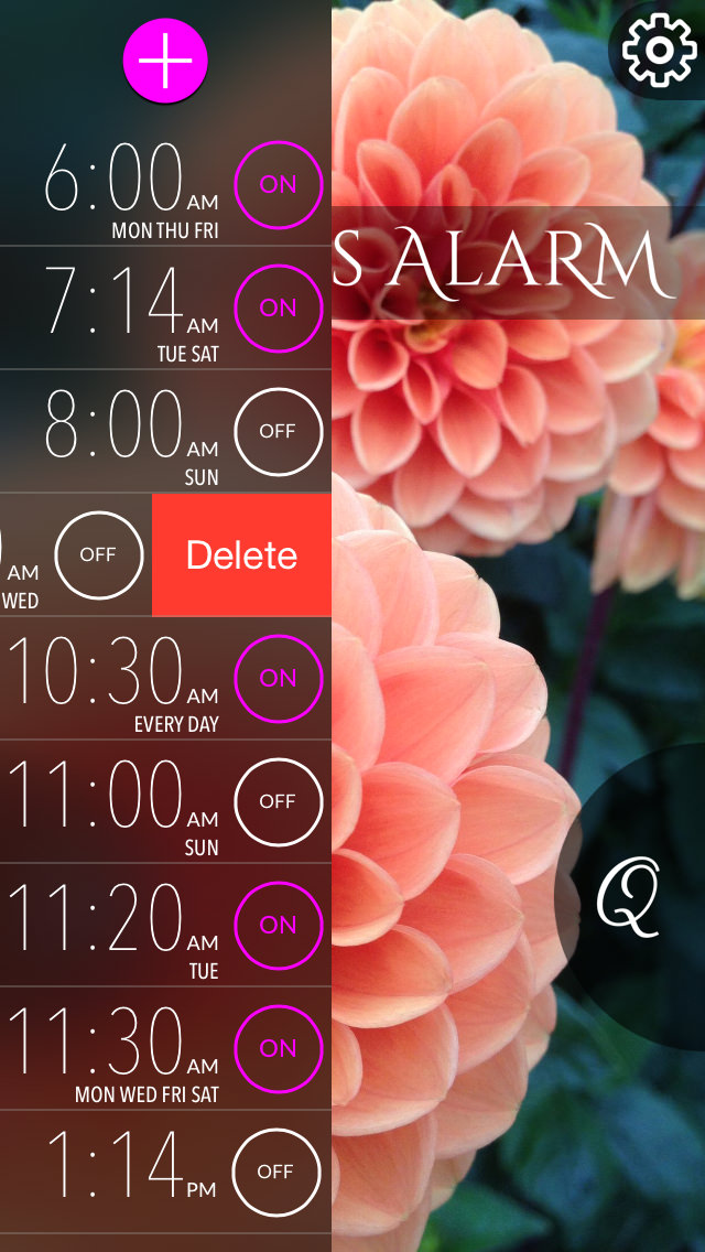 Quotes Alarm - an iOS and Android app by Bake My Apps